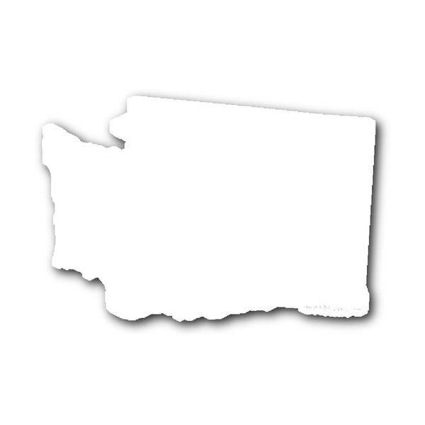 Washington State Shape Sticker Outline White State Shapes Hippie House Washington State