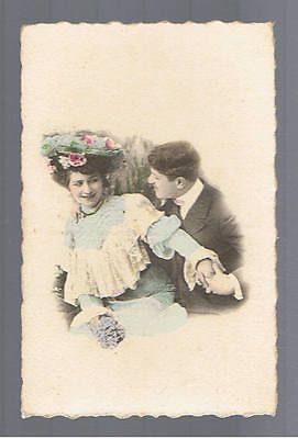 FRENCH ANTIQUE POSTCARD ROMANTIC LOVERS ROMANCE COUPLE