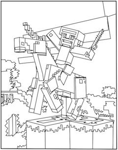 Printable Minecraft Unicorn Coloring Page