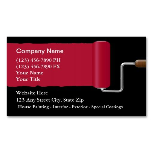 Painter business cards estate agent business cards for Painter business card template