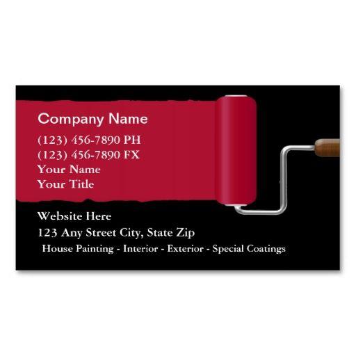 Painter Business Cards Zazzle Com With Images Painter