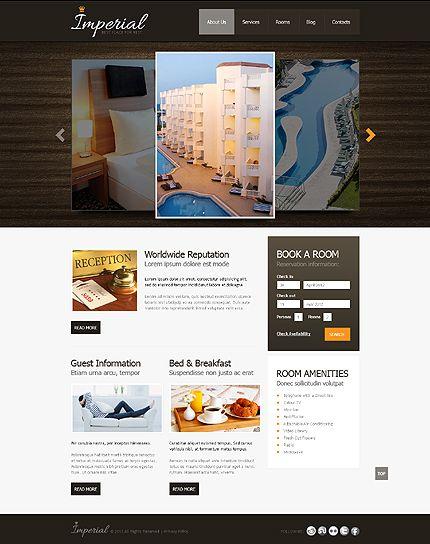 Template 42809 - Imperial Hotel Website Template   Best Web ...