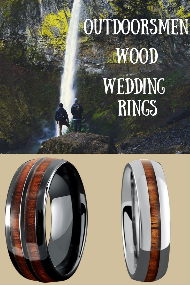 Mens wooden wedding bands All wood rings are made with 100 genuine