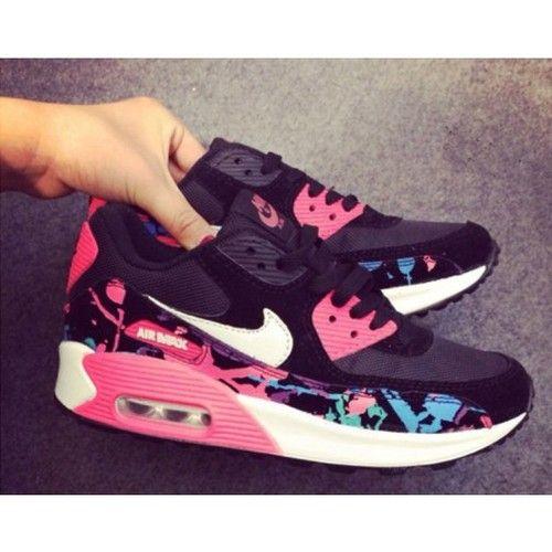 Nike Air Max 90 Womens Shoes Black Watermelon red air max 90 air