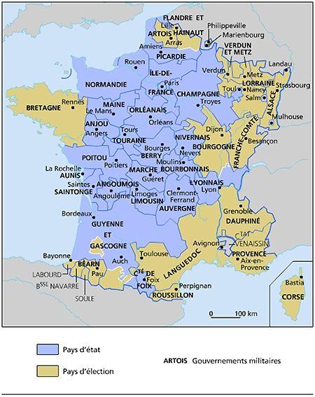 La France En 1789 Avec Images Carte De France Royaume De