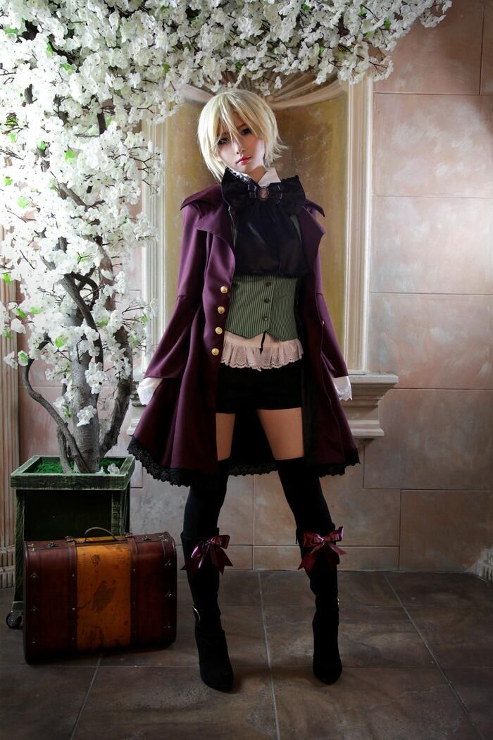 Cos Black Butler 2 Alois Trancy Cosplay Shoes Boots Ciel Phantomhive Shoes
