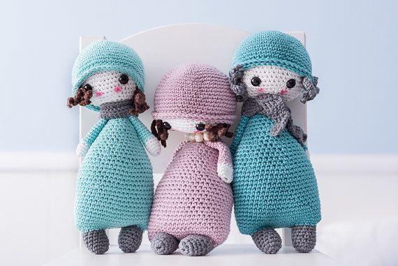 Amigurumi PATTERN - Doll #1 - CROCHET   Patrones amigurumi, Patrones ...