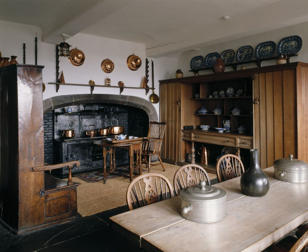 The Kitchen Showing The Coal Fired Range At Lindisfarne