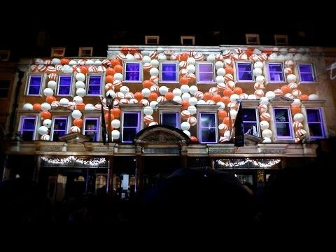 Christmas Video Mapping - Jolly\'s Department Store - Bath UK Xmas ...
