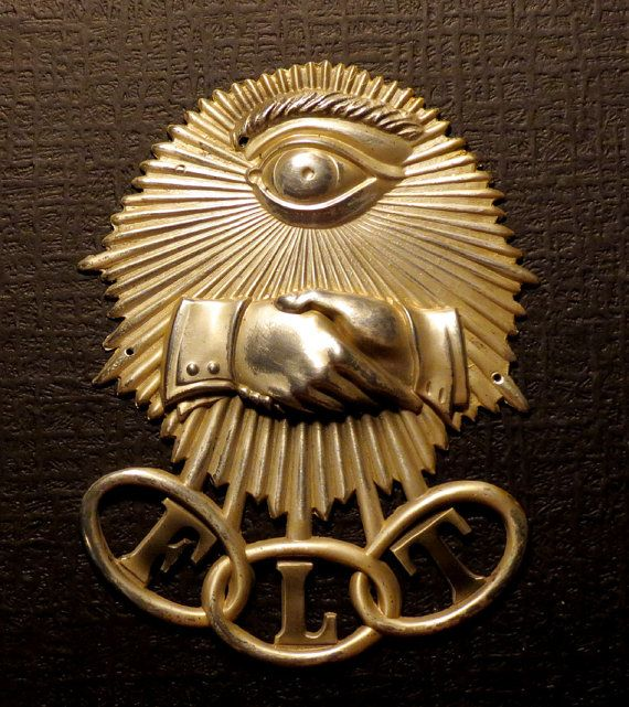 Odd Fellows Secret Society Lodge Dcor Or Casket Adornment Antique
