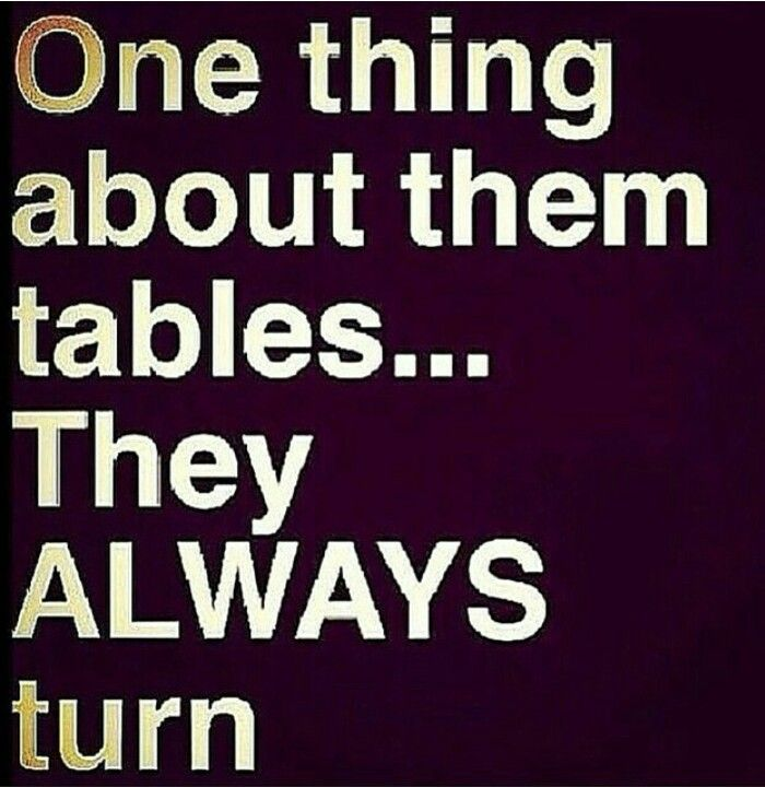 The Tables Turn