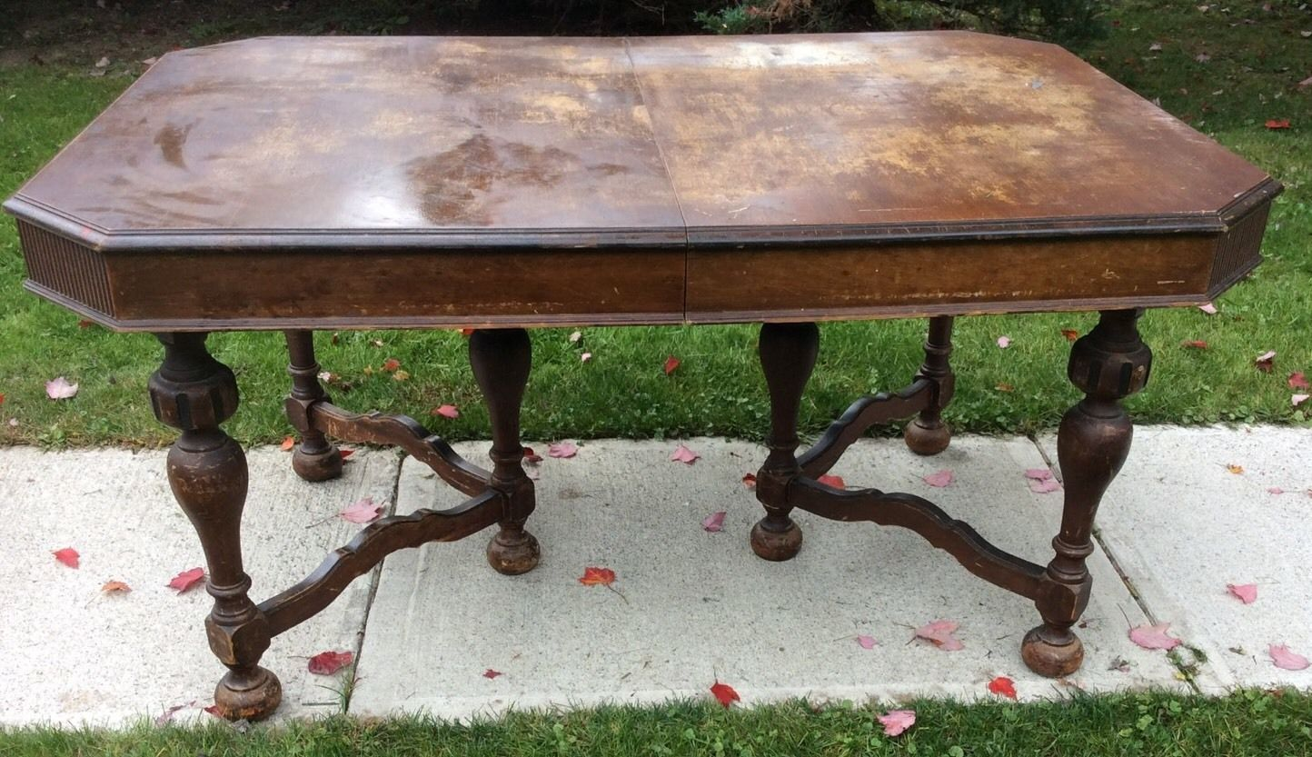 Vintage 6 Leg Solid Wood Elk Company Jamestown Ny 1920 30 039 Dining Room Table Ebay Brown Dining Table Dining Room Table Solid Wood
