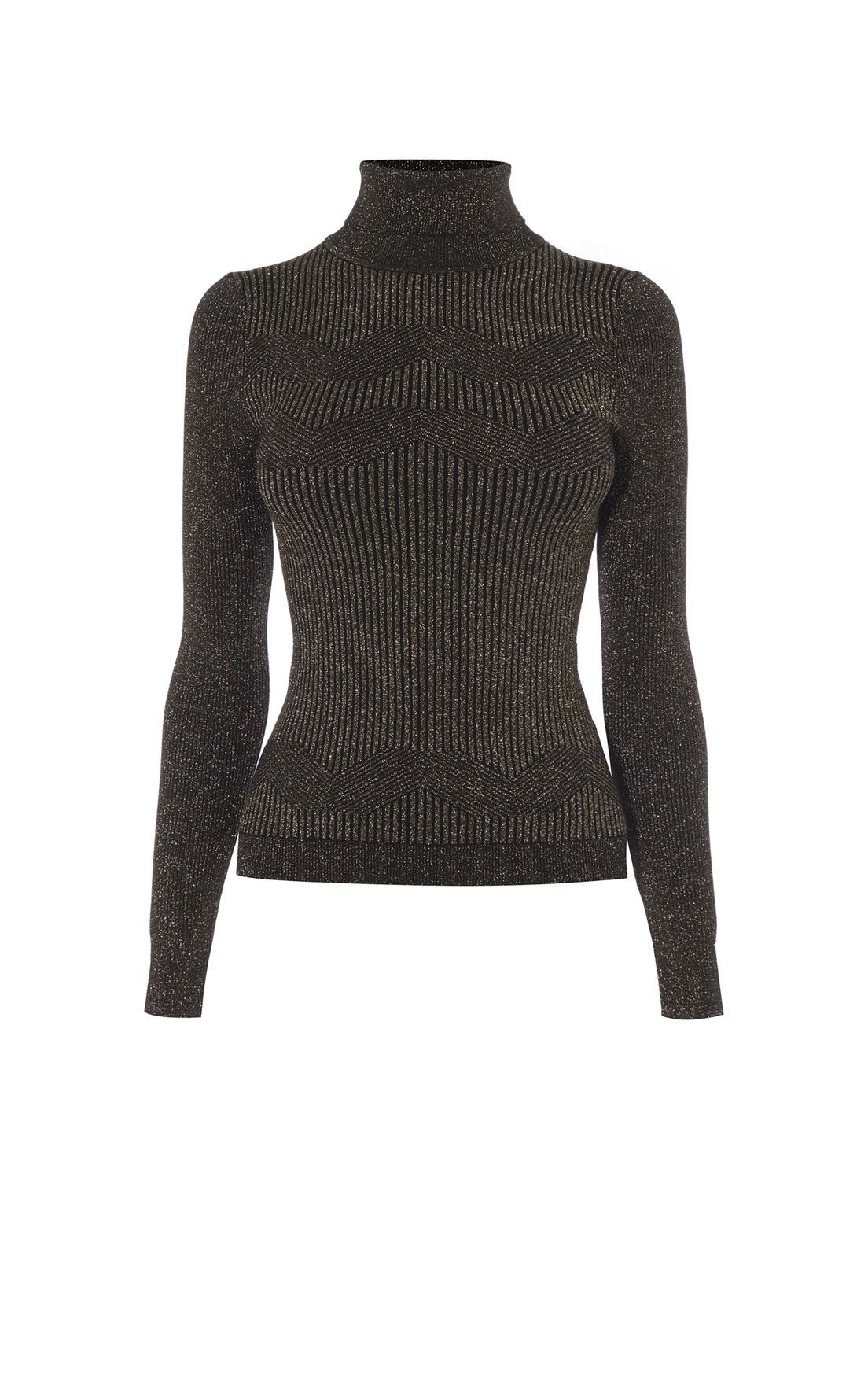 58dc646ffb4 Metallic Turtleneck Jumper | Karen Millen (KB109) | LookBook ...