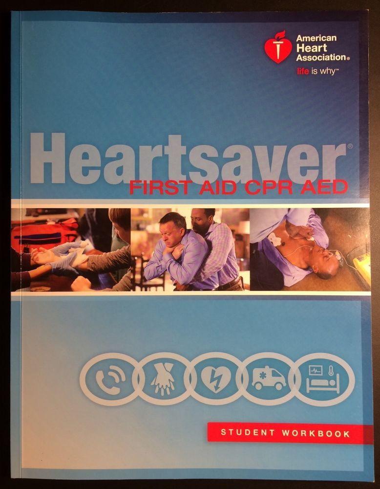 Heartsaver First Aid CPR AED Student Workbook ISBN 9781616694241 #Textbook