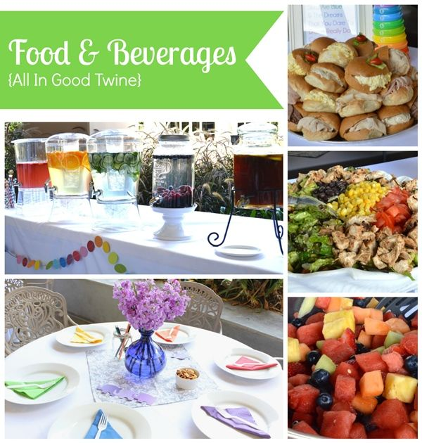Food and Beverages- Rainbow Ombre baby shower