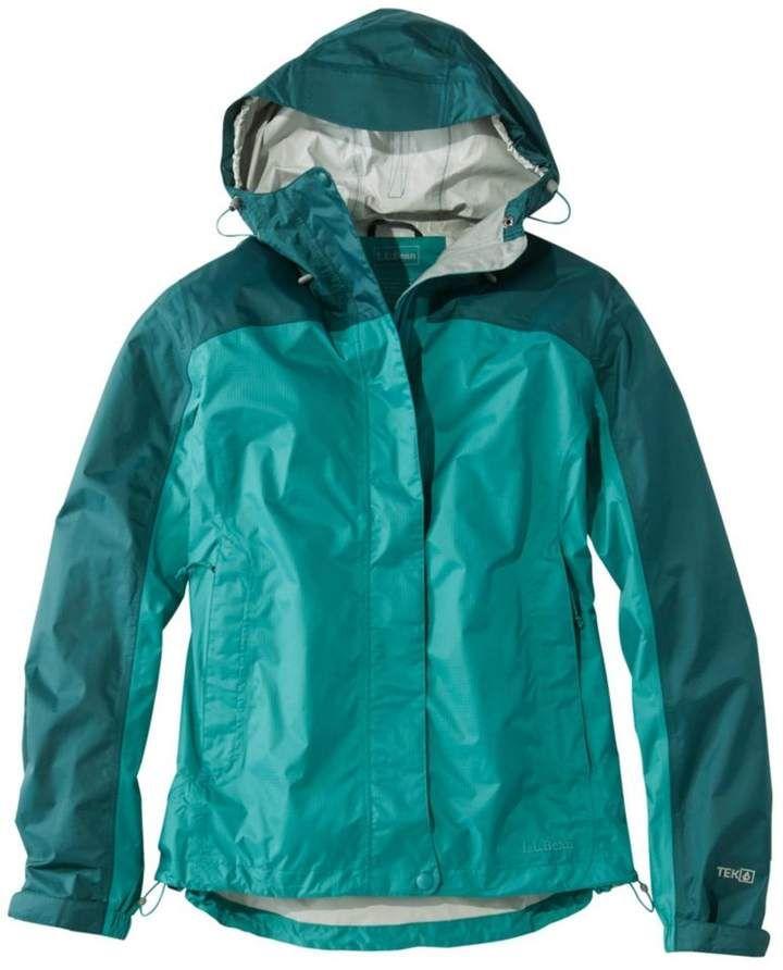 35ec07afd06 L.L. Bean L.L.Bean Women's Trail Model Rain Jacket, Colorblock ...