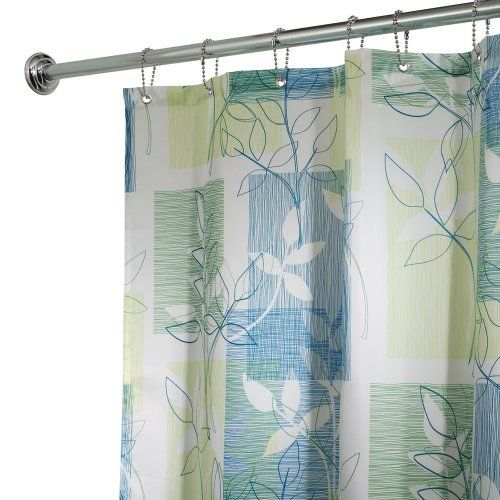 Interdesign Vivo Fabric Shower Curtain 72 By 72 Blue Green By