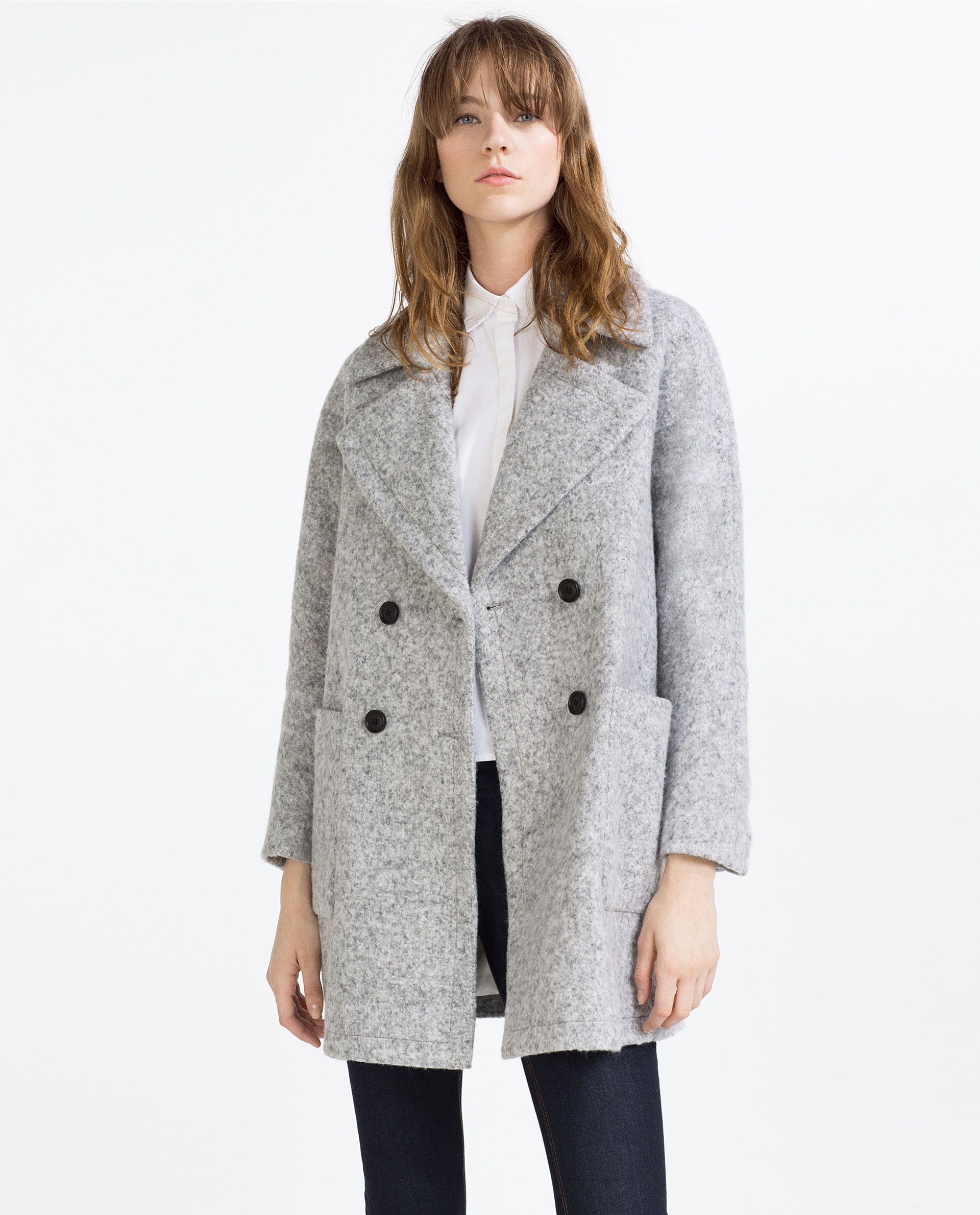 61485d5d DOUBLE BREASTED WOOL COAT - View all - WOMAN - NEW IN | ZARA Spain ...