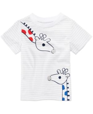 af6948b7 First Impressions Graphic-Print T-Cotton Shirt, Baby Boys, Created for  Macy's - White 3-6 months