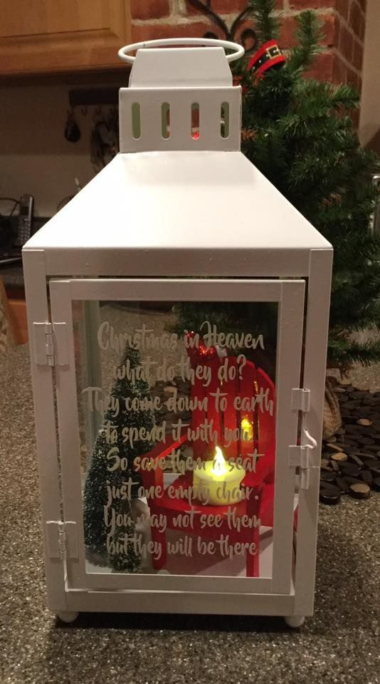Christmas In Heaven Lantern Cricut Stuff Christmas Christmas