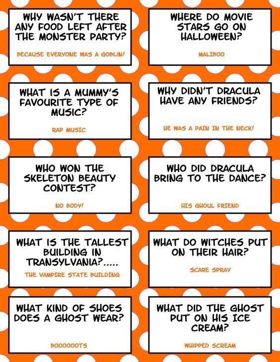 free printable halloween jokes for kids halloween lunch box jokes punny - Kids Jokes Halloween
