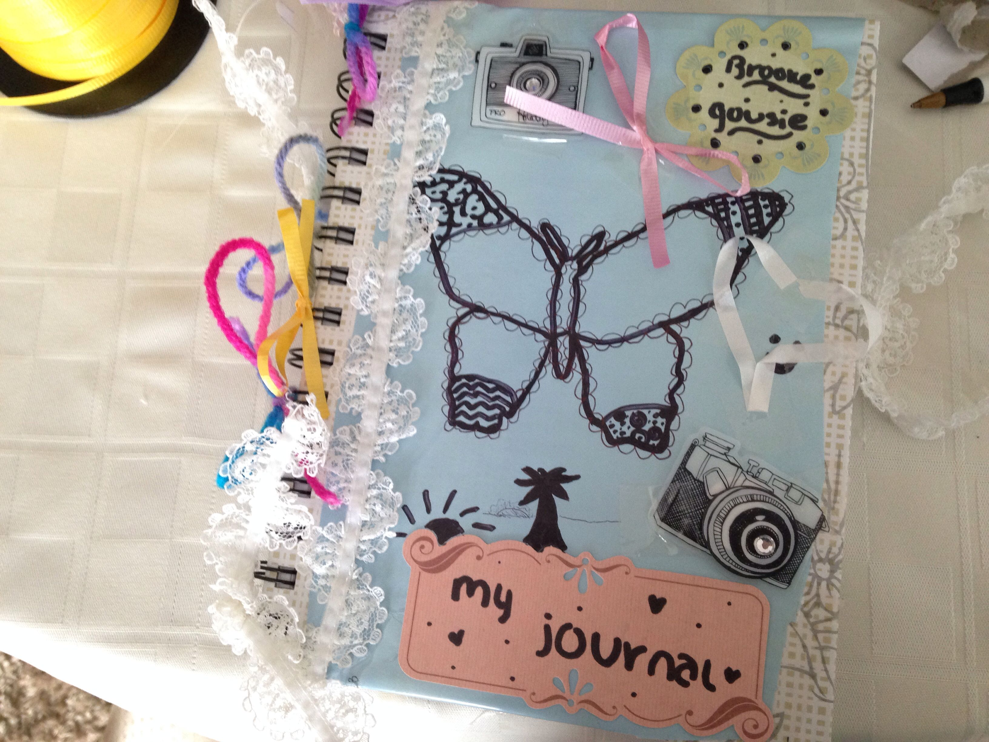 diy cute notebook cover inspired by Pinterest and tumblr ...