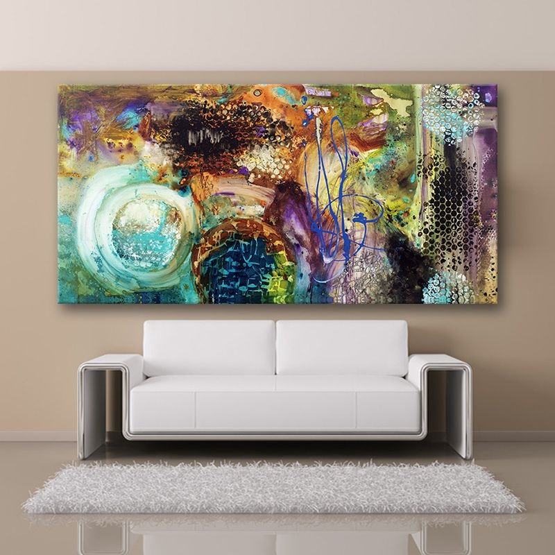 Singlethemost famous living room pintura pintura mural de for Decoracion hogar living