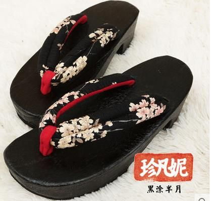 e65c51f6aacf Aliexpress.com   Buy Heel flip flops women sandals 2017 Summer Japanese Geta  for female