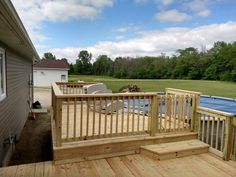 Image Result For Adding Above Ground Pool To Existing Deck Round Above Ground Pool Deck Designs Backyard Above Ground Pool Decks