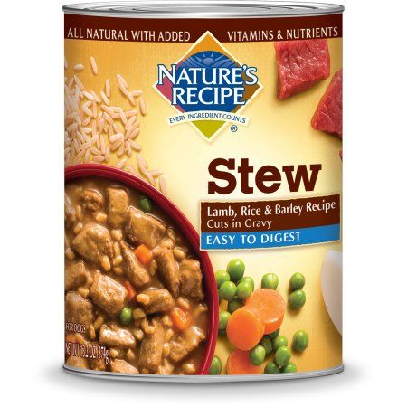 Nature's Recipe Easy to Digest Lamb, Rice & Barley Recipe Cuts In Gravy Wet Dog Food, 13.2 oz