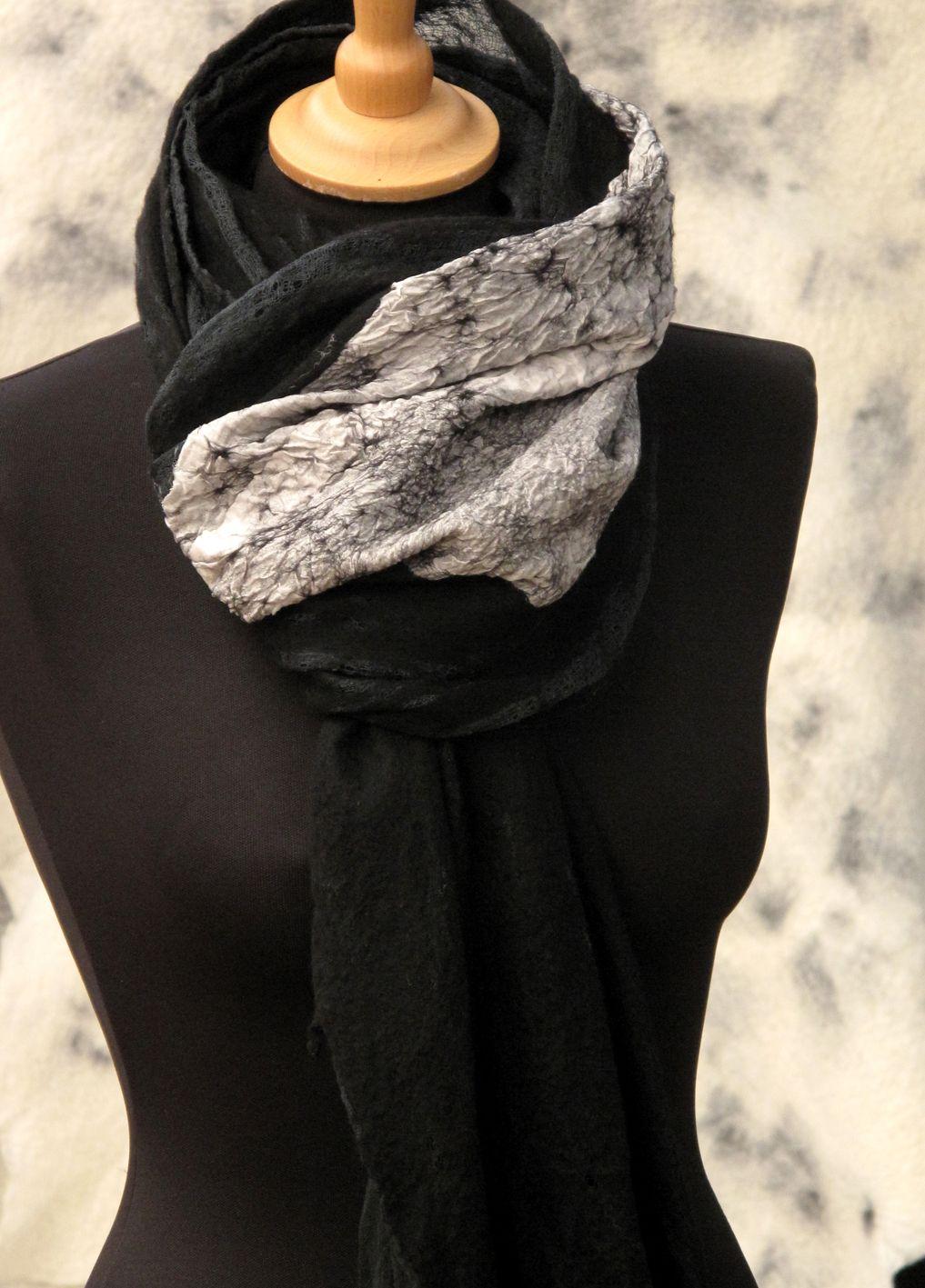 SLOWLAB FIRENZE F/W 2016 felt scarve. fine merino wool.