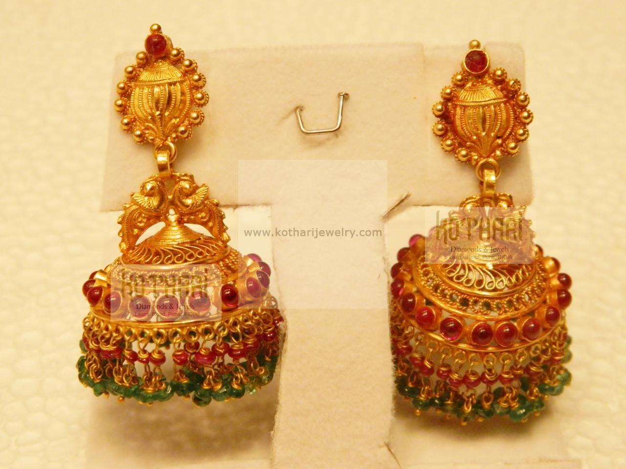 latest gold buttalu designs - Google Search | Earrings - Gold ...