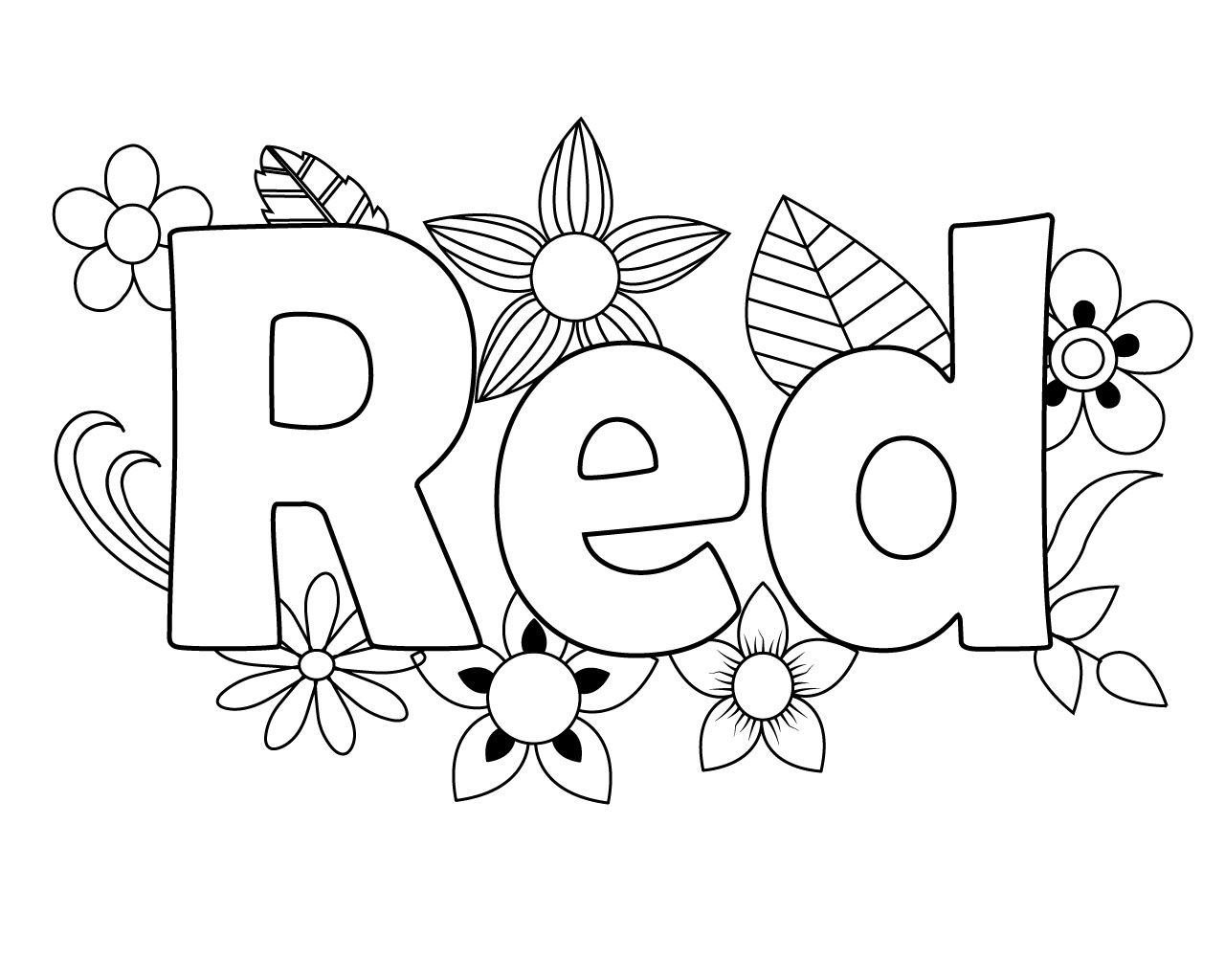 Printable Red Coloring Pages For Your Little Ones | Heart ...