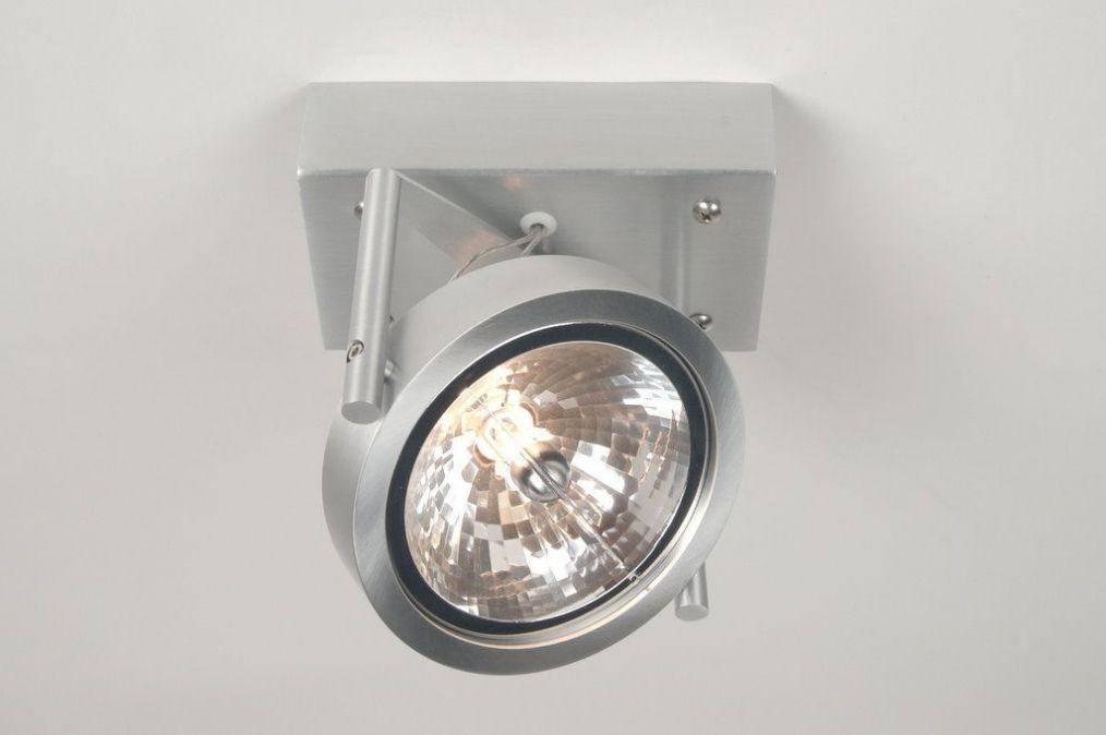 plafondlamp 67484: modern, design, aluminium, rond, rechthoekig, Badkamer