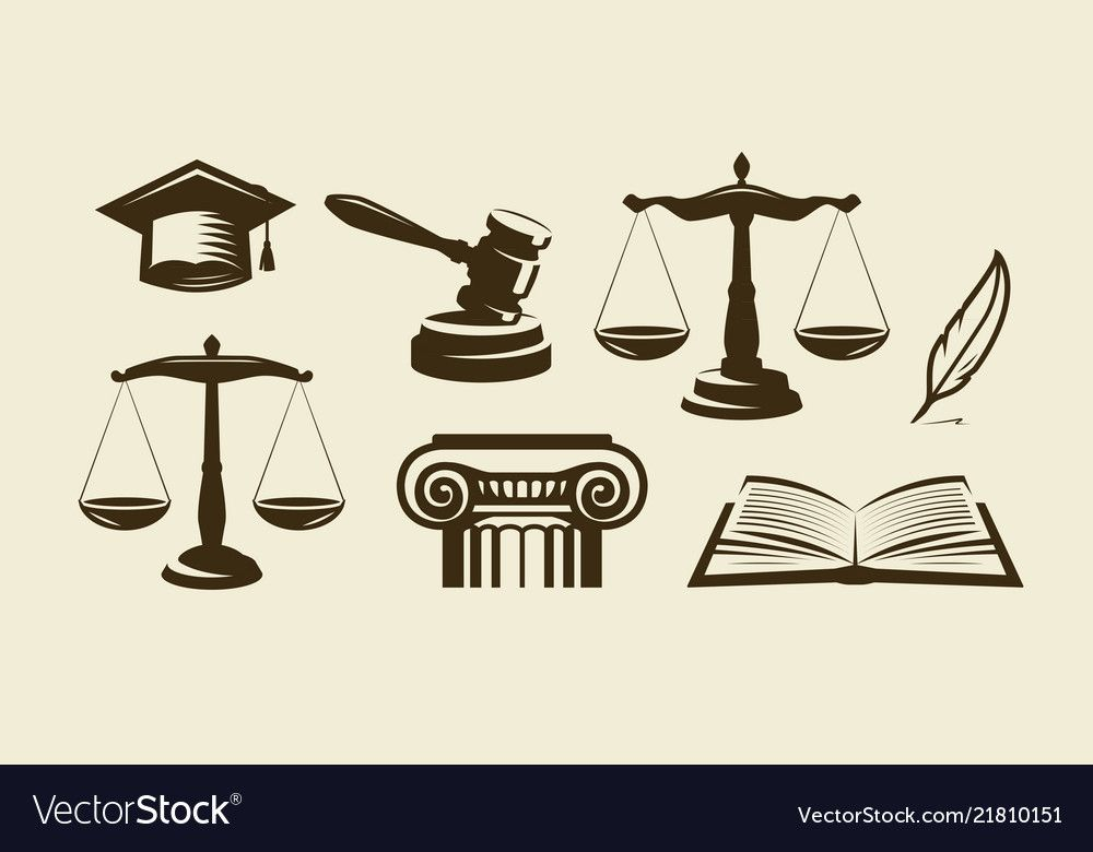 Justice Set Of Icons Lawyer Advocate Law Symbol Vector Download A Free Preview Or High Quality Adobe Illustrator Ai Eps Pdf And Hig Symbols Lawyer Vector