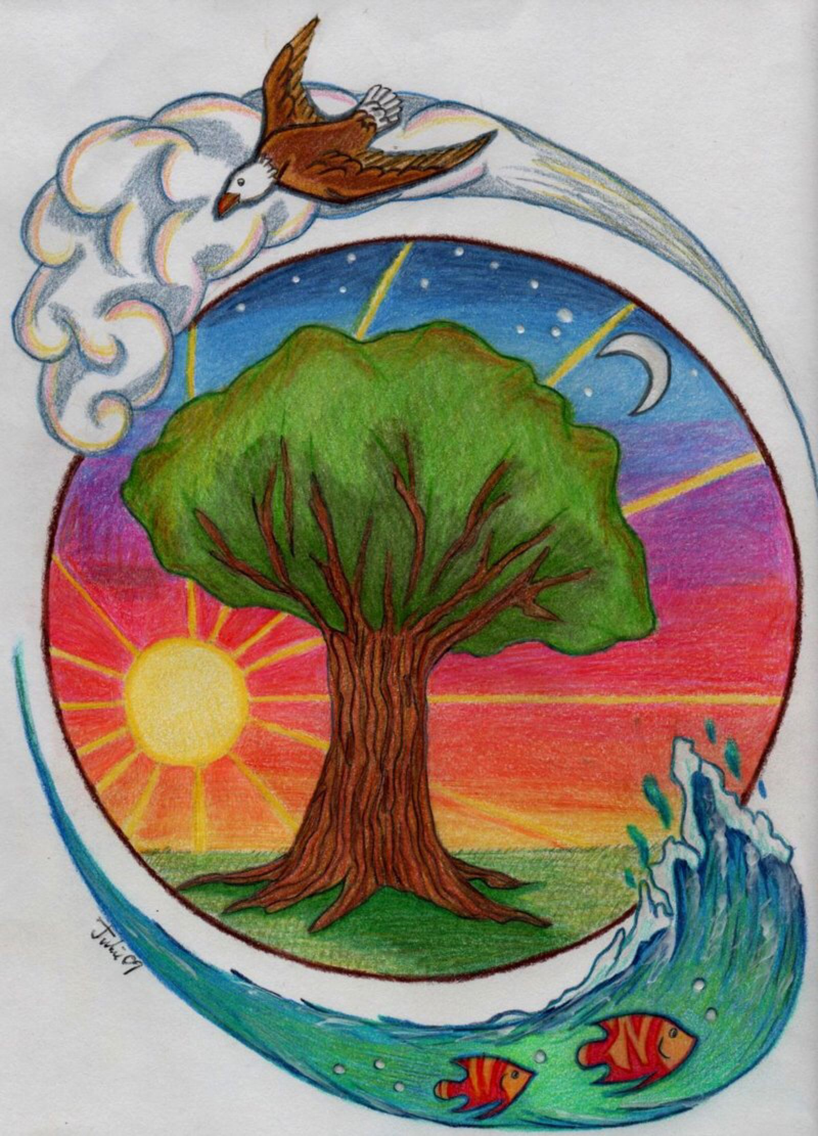 Nature S Four Elements By Jujubeeze On Deviantart Nature Drawing Elements Of Art 5 Elements Of Nature