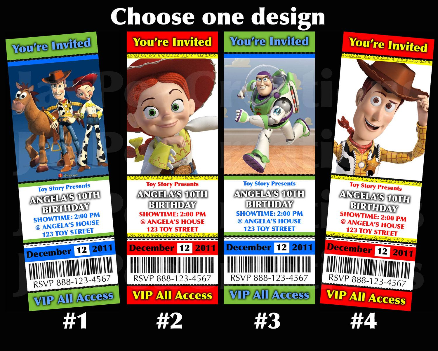 Toy Story invitation digital file personalized by JayPeaCreations ...