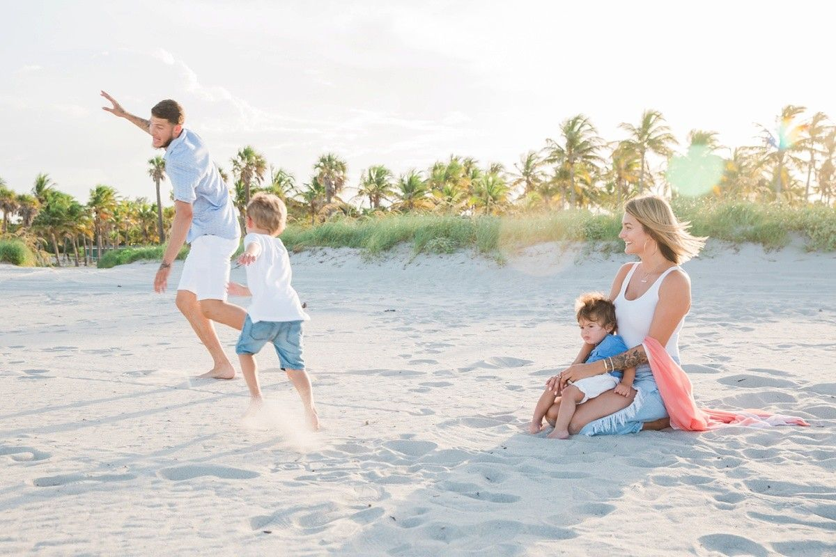 Miami Beach Sunset Family Photography