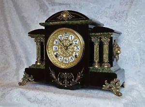 Rare Antique Adamantine Seth Thomas Mantel Clock Paxo Restored Ebay Mantel Clock Clock Old Clocks