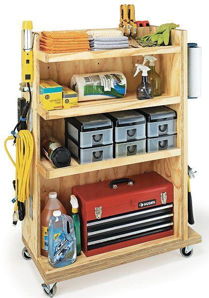 garage storage cart woodworking plan: