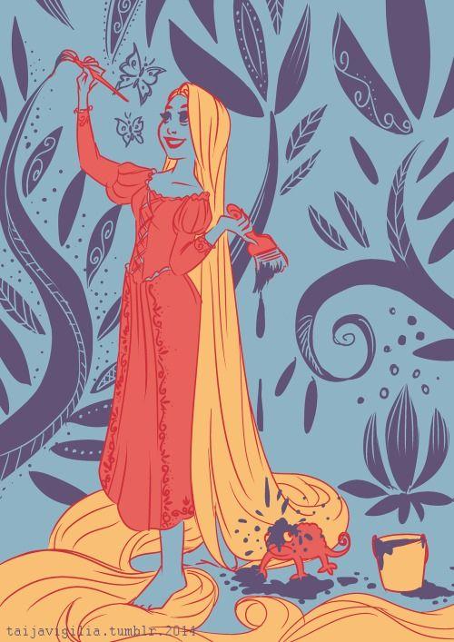 6/18colour scheme prompt - Rapunzel for stillinastorm