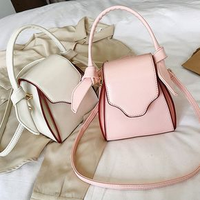 New Plain Synthetic Leather Women's Shoulder Tote Bag Handbag