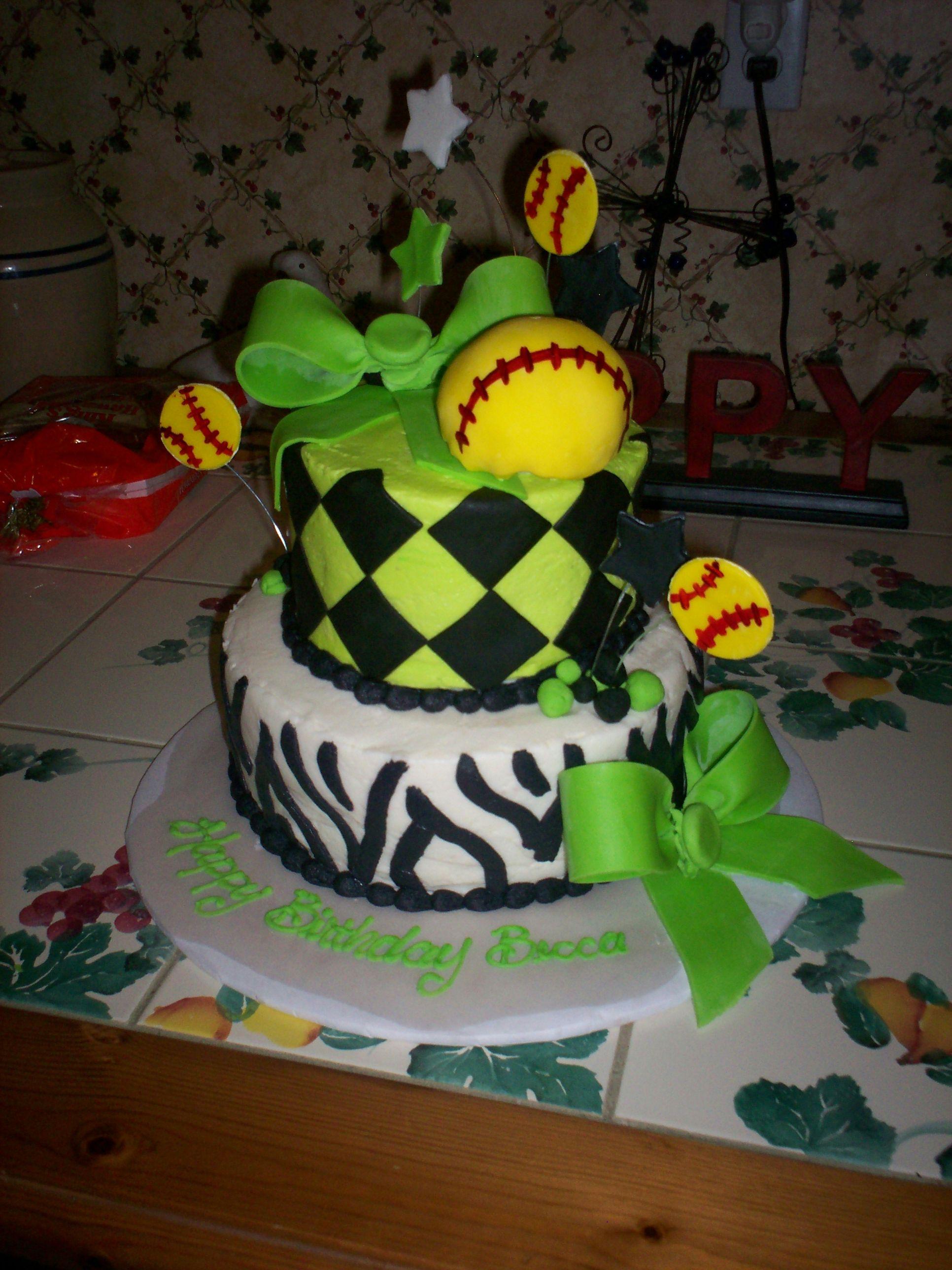 Softball Birthday Cake Softball Softball Softball Pinterest
