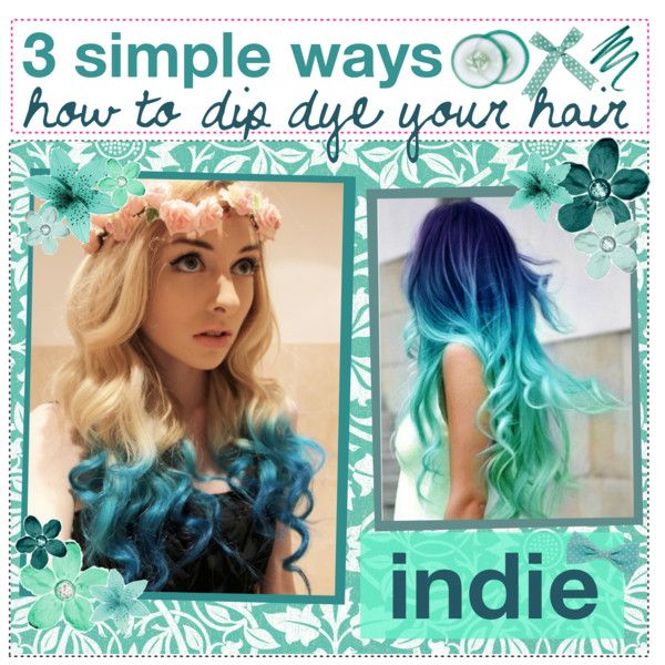 &&+ 3 simple ways how to dip dye your hair at home(: | Dip dyed ...