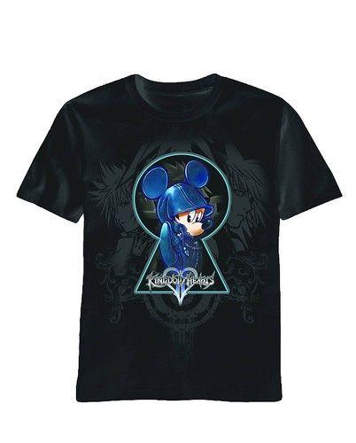 T-SHIRT KINGDOM HEARTS LOCKS MICKEY MOUSE T/S Black Size S M L XL Walt Disney