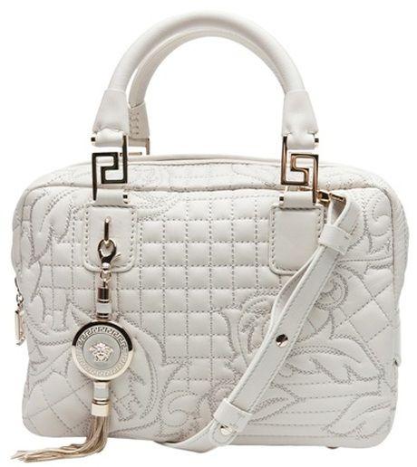 5e52ee174d VERSACE White Vanitas Quilted Bag | VERSACE ♚ | Versace vanitas ...
