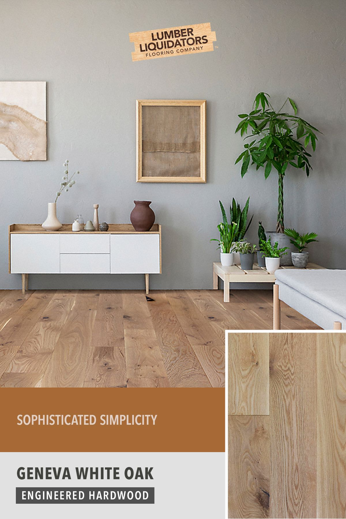 Lumber Liquidators Understands That Sophistication Doesn T Have To Be Complicated Add In 2020 Oak Engineered Hardwood Engineered Hardwood Flooring Engineered Hardwood