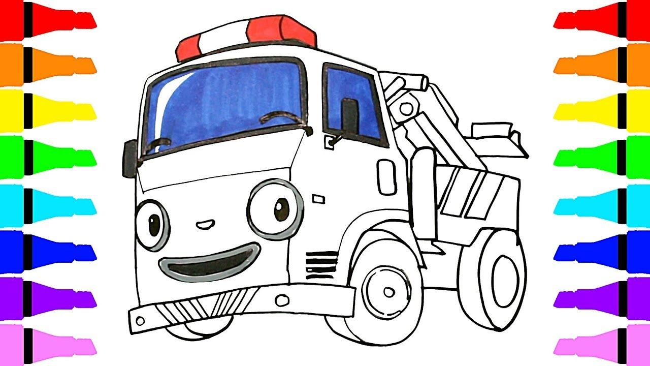 How To Draw Tayo The Little Bus Toto U0026 Rani Roi For Kids