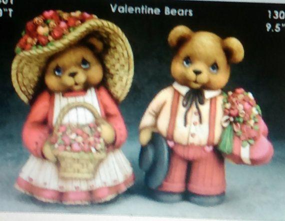 ceramic bisque u paint clay magic valentines bears/anniversary