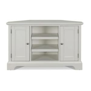 Naples White Corner TV Stand-5530-07 at The Home Depot Also Look at Home Decorators version with shutter doors.